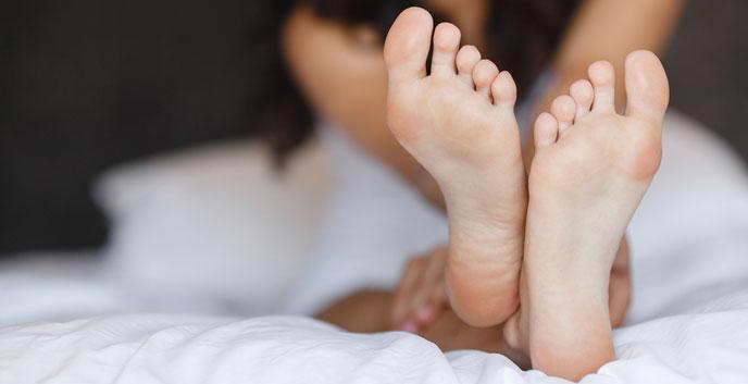 Herpes en los pies